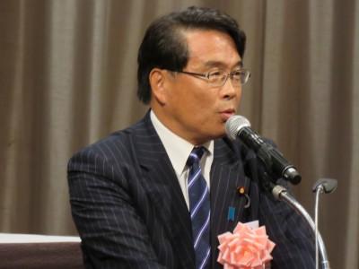 民進党東京都連会長・松原仁衆議院議員(定期大会来賓挨拶