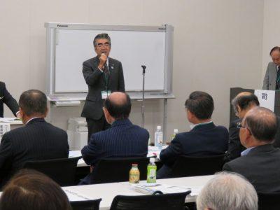 東京税政連渡邉会長(主催者挨拶)