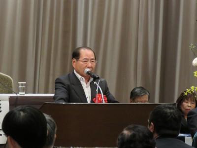 日本税政連・小島忠男会長(日本税理士政治連盟会長挨拶)