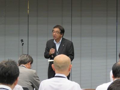 開会挨拶;東京税政連 吉川幹事長