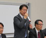 民進党代表代理挨拶(長妻昭衆議院議員)