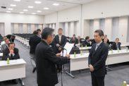 会員増強表彰(品川税政連・新井会長)