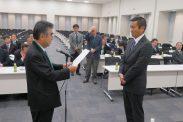 会員増強表彰(日野税政連・牧会長)