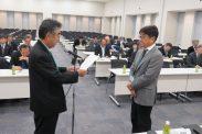 会員増強表彰(武蔵野税政連・上田会長)