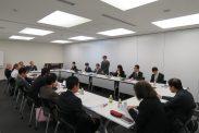 20161024東京青年税理士連盟との懇談会(東京税理士会館)(青税会長挨拶)